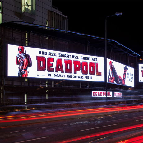 Tongue-in-cheek promotional visuals were used to promote Deadpool