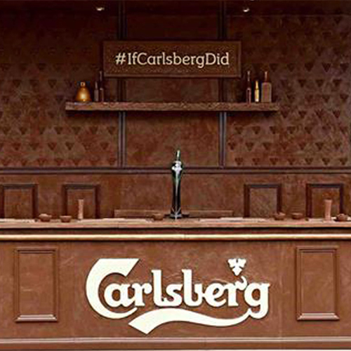 Carlsberg Get into the Easter Spirit with OOH Chocolate Bar