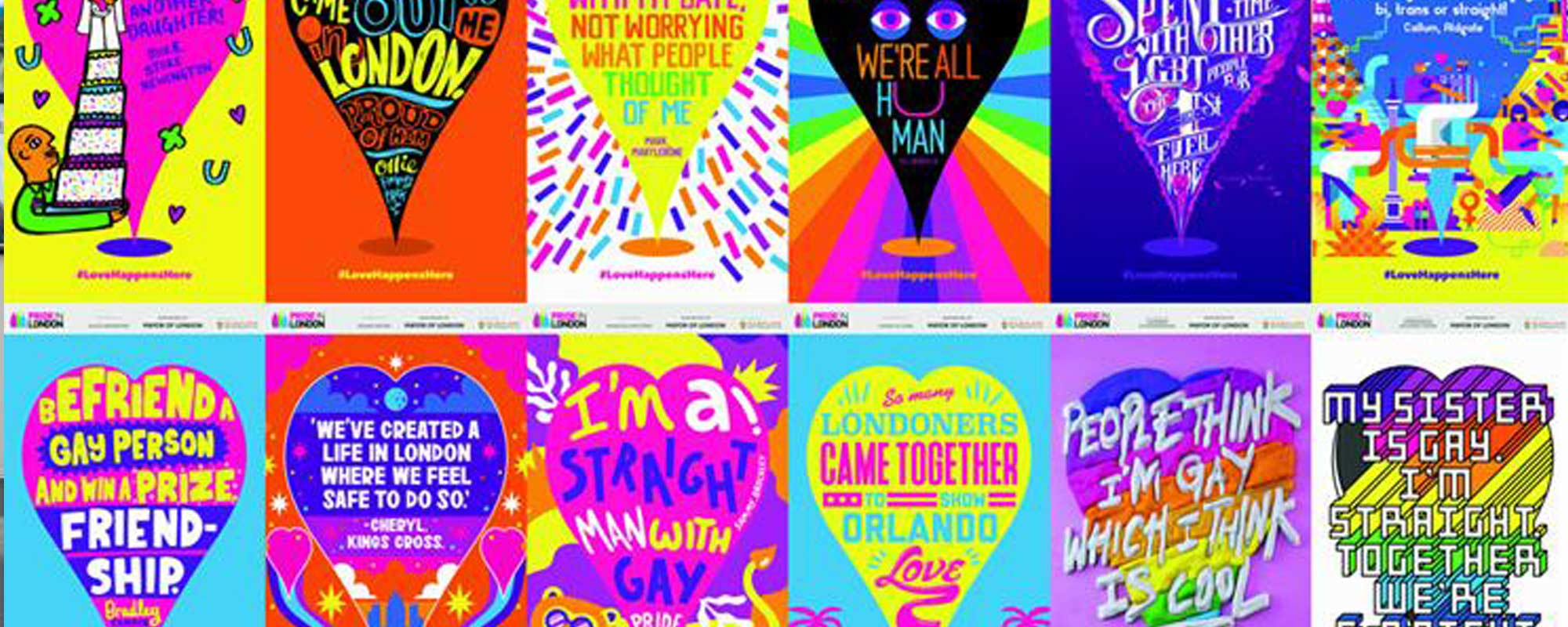Pride Latest Out-of-Home Campaign Fills London with Vibrant Love Stories