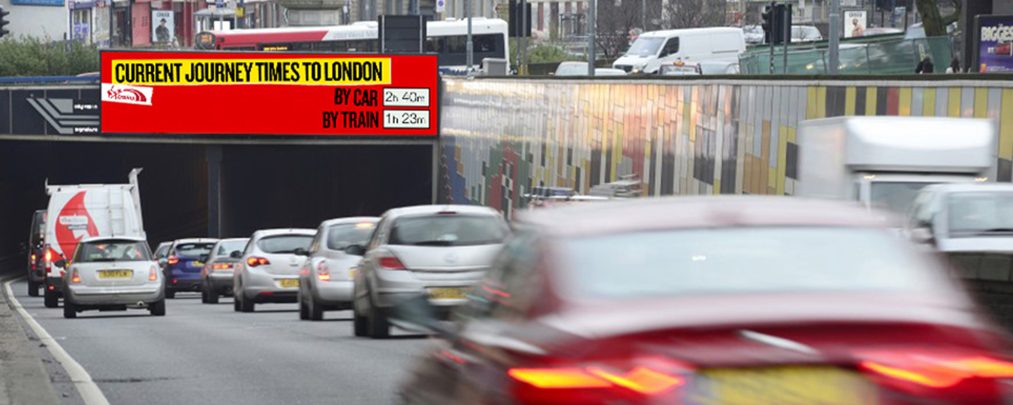 Virgin Trains' DOOH Campaign Targets Drivers with Innovative Data-Driven Roadside Alerts