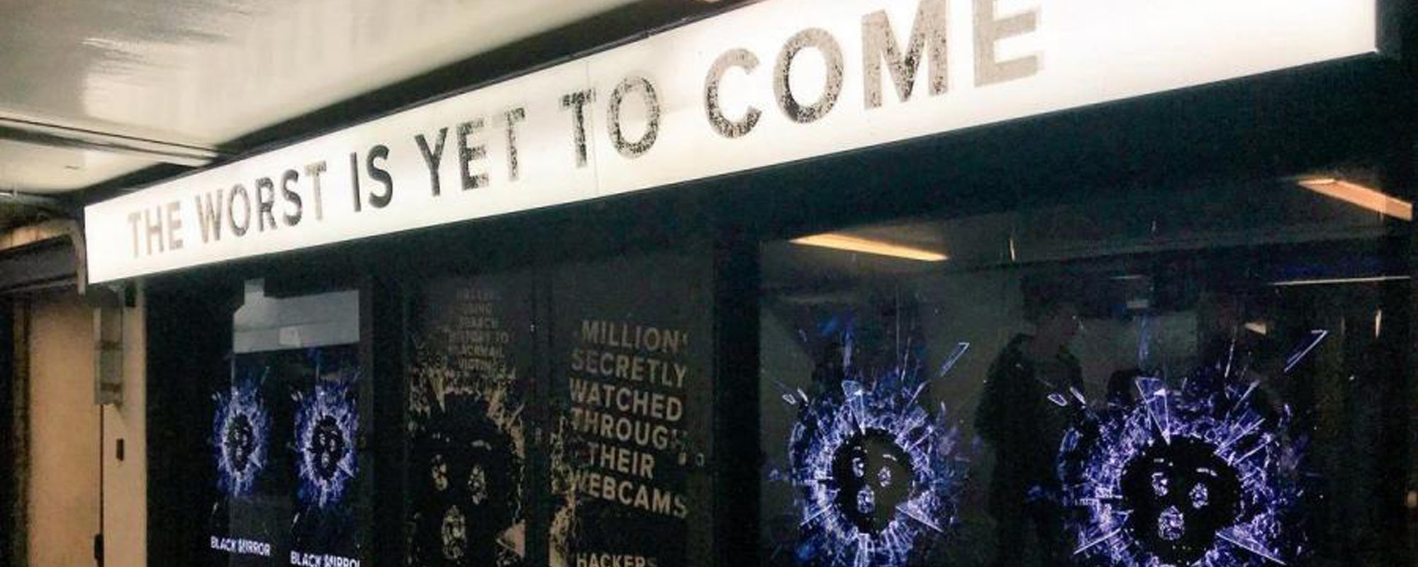 Black Mirror Takeover Ruffles Feathers at Old Street Tube Station
