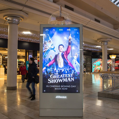 The Greatest Showman Sound Shower Campaign Immerses Shoppers in Movie's Soundtrack