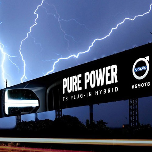 Volvo Calls on Thor to Spark Up OOH Billboard Using Real Lightning