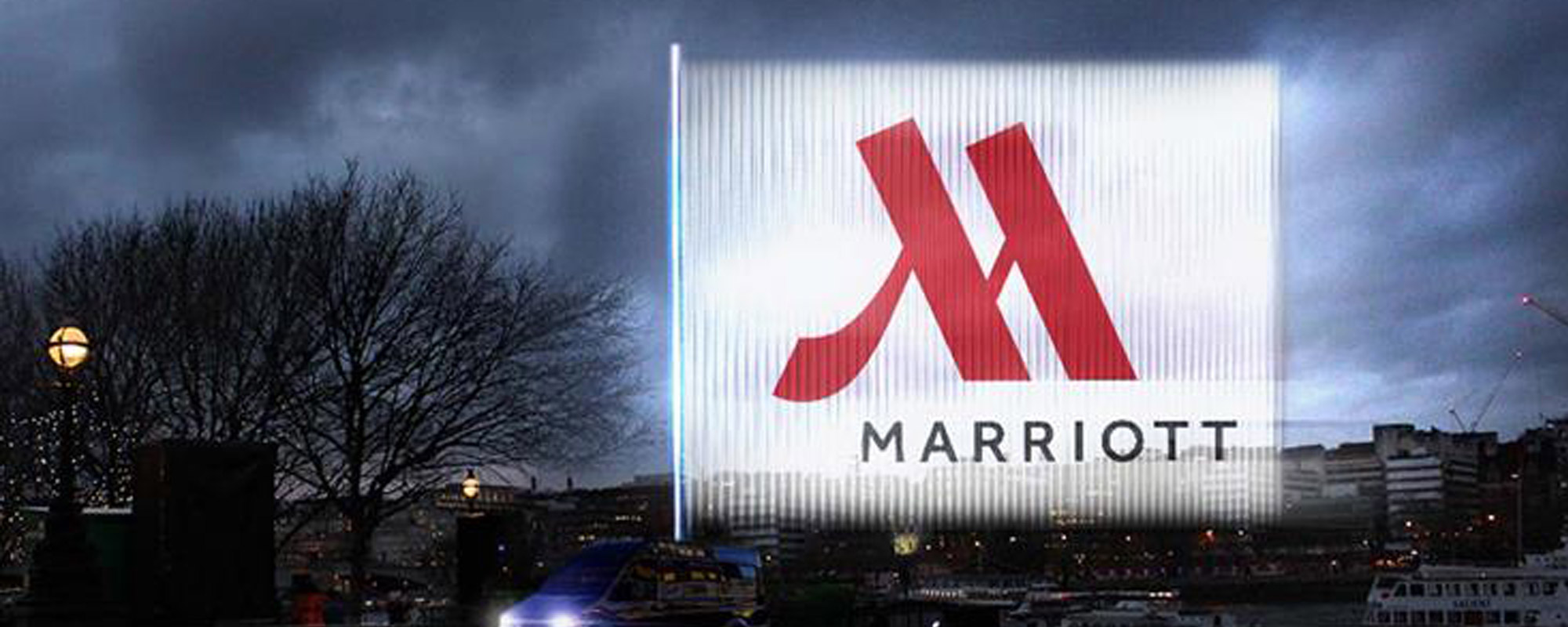 Marriott Hotels Light Up the Sky with First Use of 'Echo' Outdoor Ad Technology