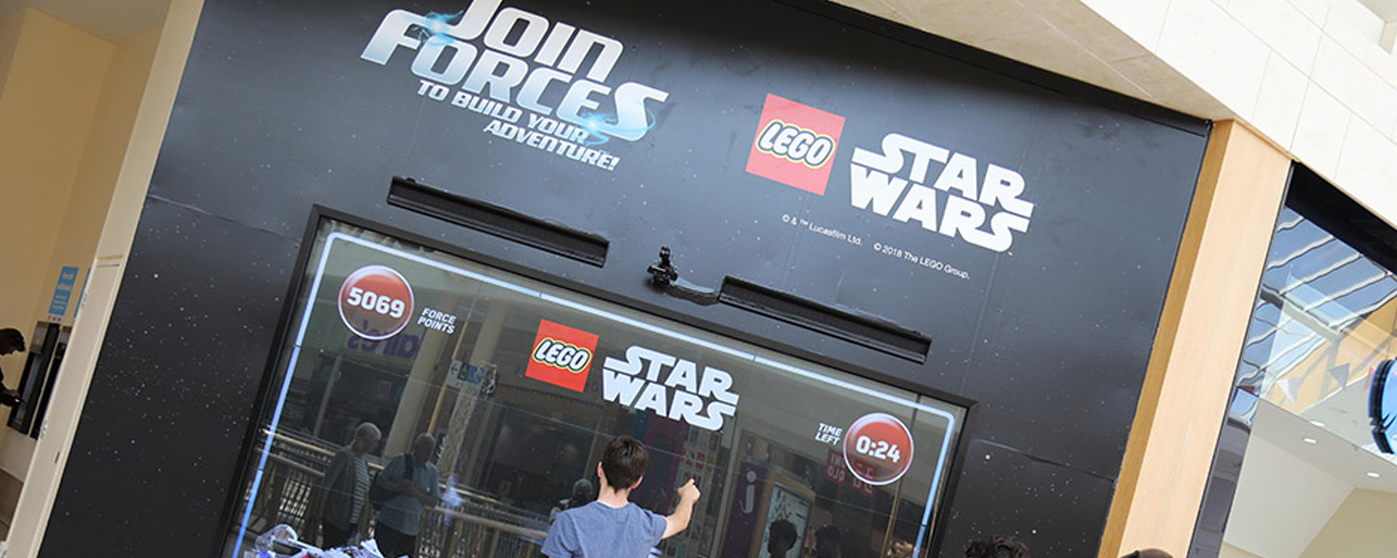 The Force is Strong with LEGO Star Wars' Hi-Tech Gesture-Based DOOH Campaign