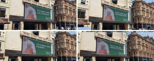 4 examples of Carlsberg's Leicester Square ads