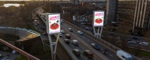 Digital Out of Home Billboards showing Sky's Incredibles advert