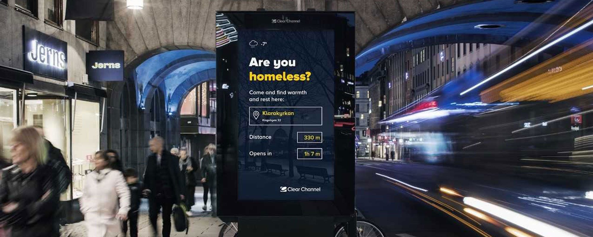 Clear Channel Sweden help the homeless in OOH campaign | Rapport